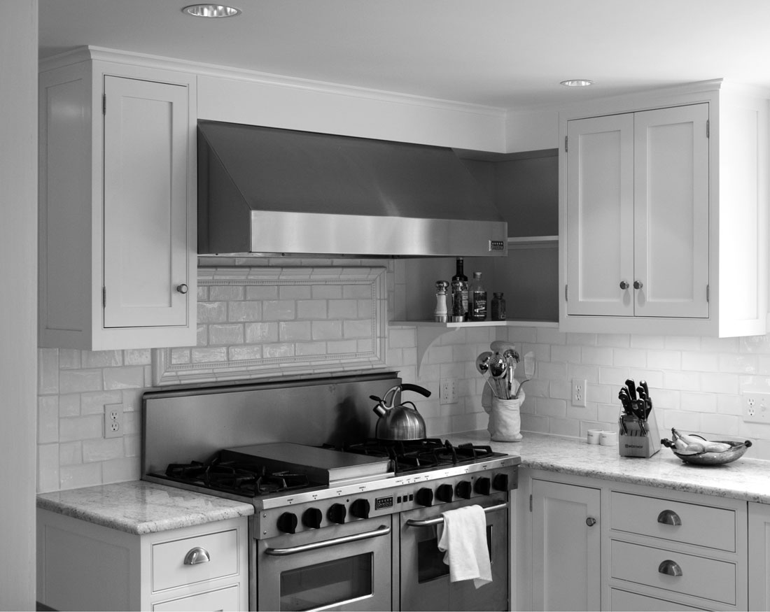 This custom designed kitchen was part of a large renovation.