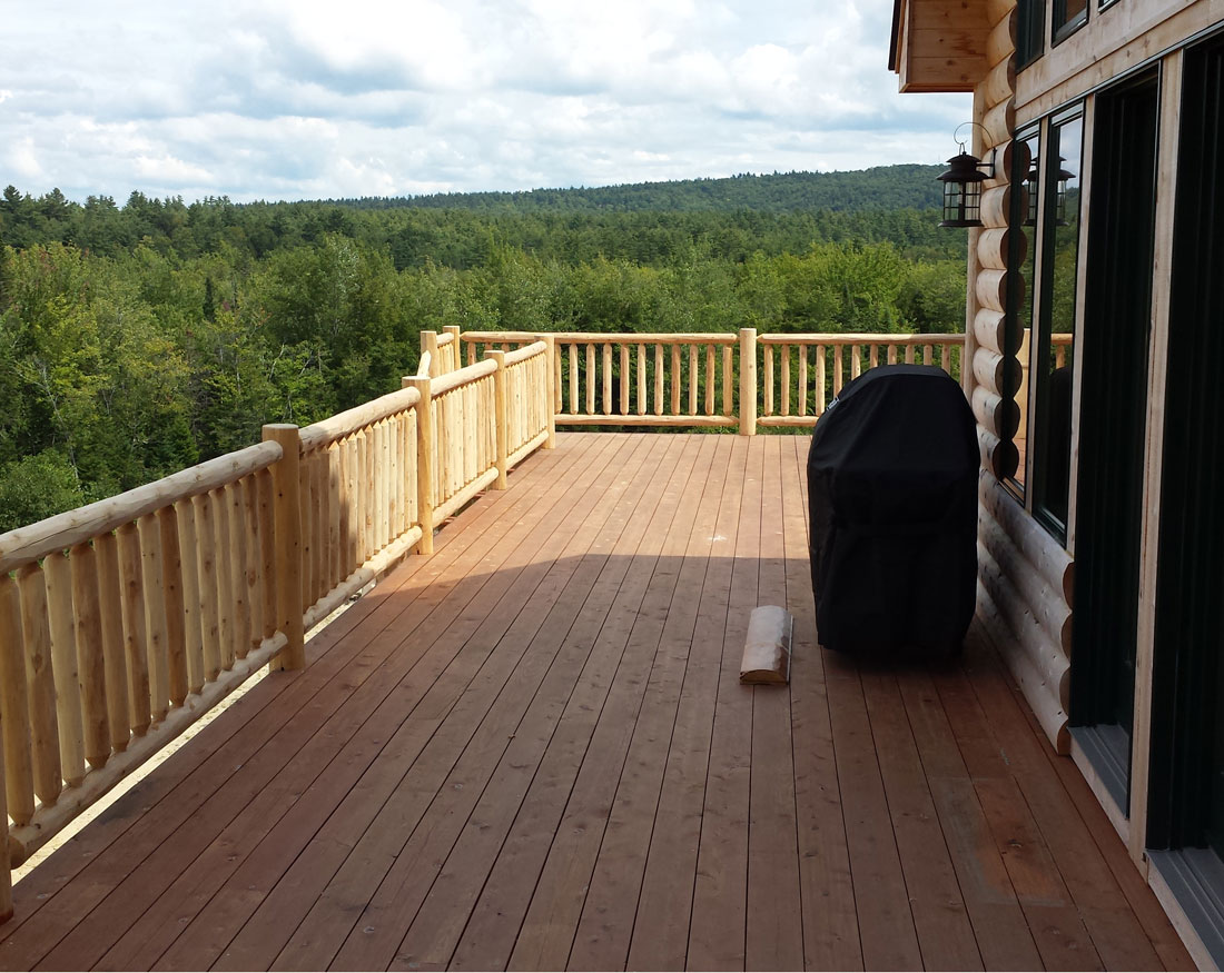New country home and deck