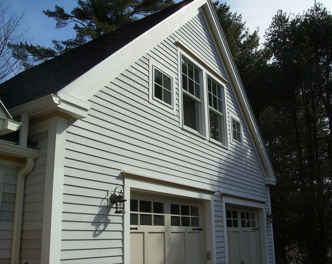 Garage construction with great room upstairs