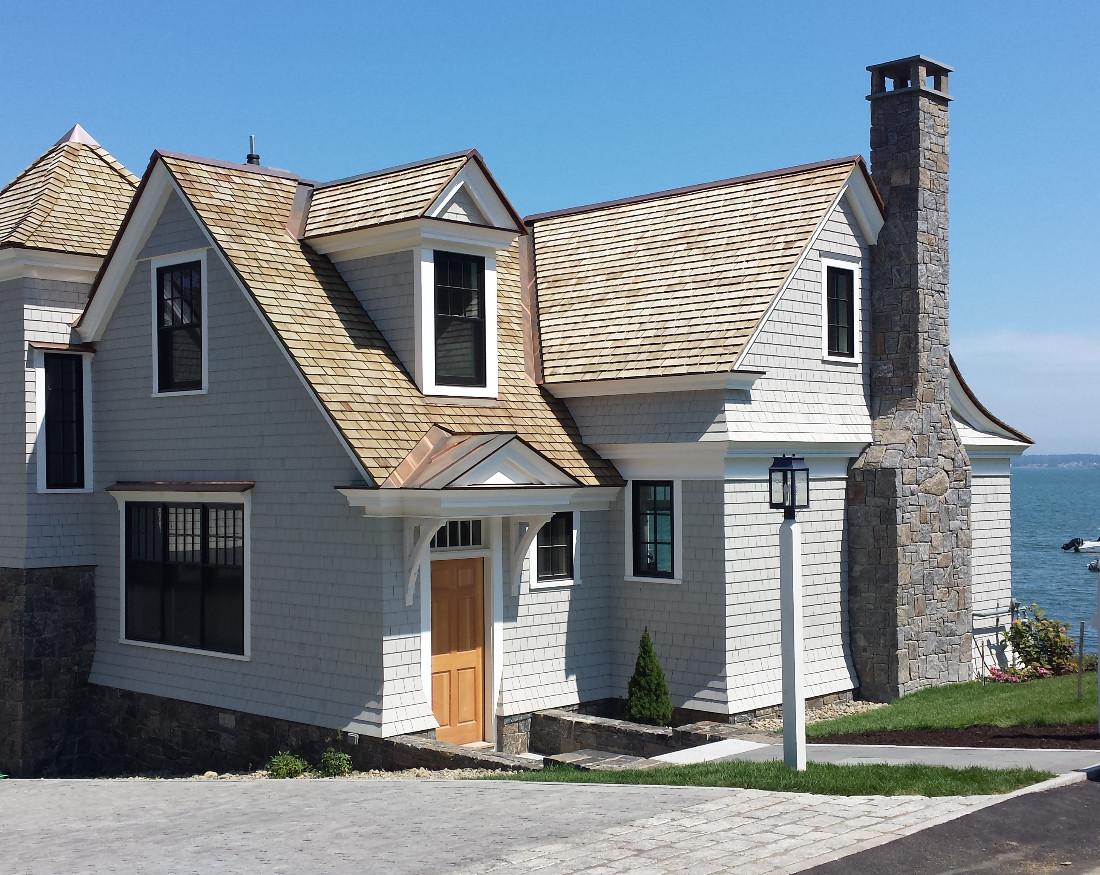 Waterfront custom home
